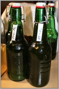 Second ferments in Grolsch bottles