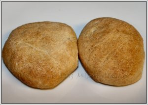 Homemade whole wheat sandwich rolls