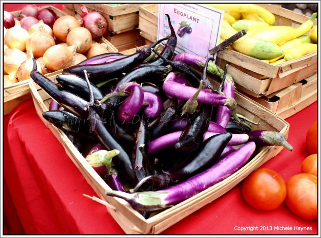Heirloom eggplant at the Chester Sunday Market
