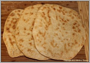 Quick, soft flatbread made from refrigerated whole wheat yeast dough