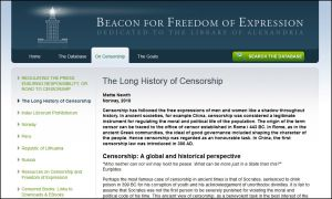 Beacon for Freedom on Censorship
